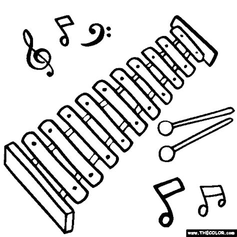xylophone coloring page coloring pages coloring pages