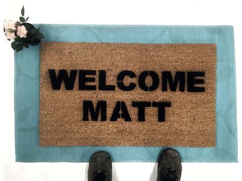 matt funny housewarming  mat doormat damn