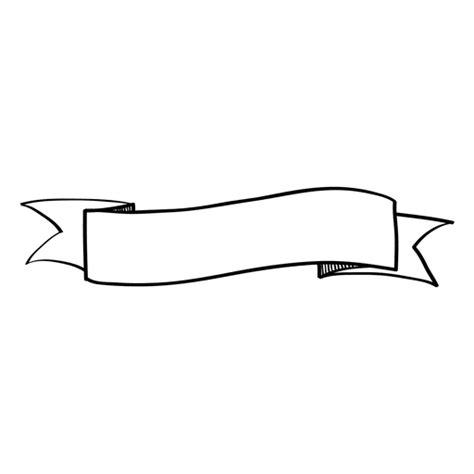 wavy doodle ribbon banner transparent png svg vector