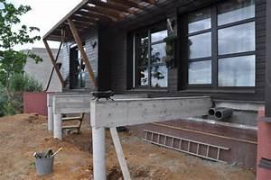 une terrasse sur pilotis le blog de soso construction With terrasse sur pilotis en beton