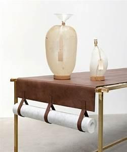Chemin De Table Design : quelques id es pour des objets de d coration en cuir ~ Teatrodelosmanantiales.com Idées de Décoration