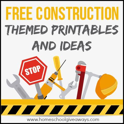 free construction themed printables and crafts 919 | construction