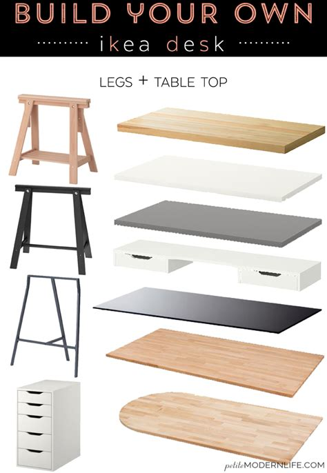 how to make your own desk build your own ikea desk petite modern life