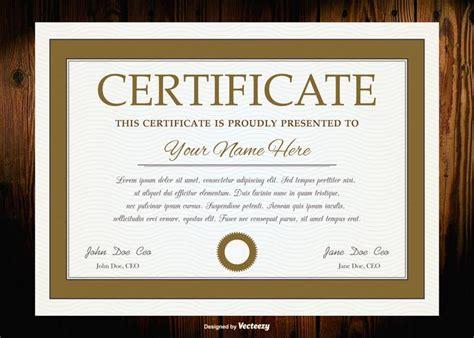 vektor diplom zertifikat vorlage kostenlose vektor kunst