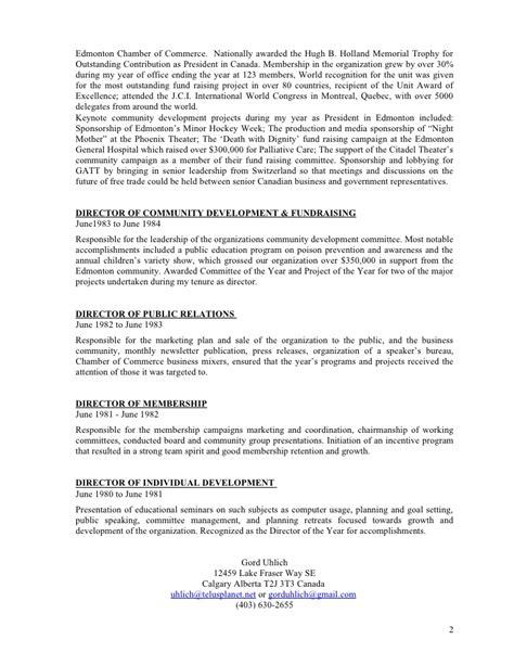 vice president organizational development resume resume president of organization