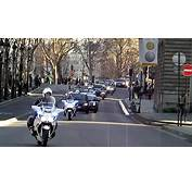 Russian President Dimitry Medvedev In Paris Motorcade With