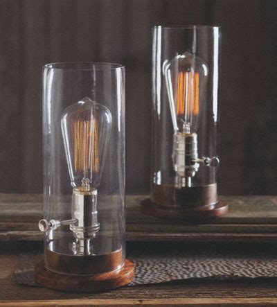 classic glass edison period tungsten filament table lamp novacom