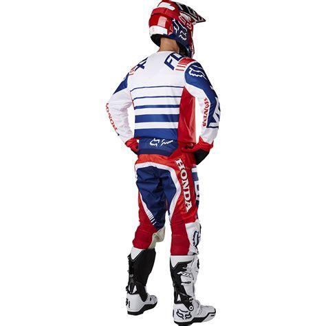 fox motocross gear sets fox racing 2017 mx new 180 honda red white blue jersey