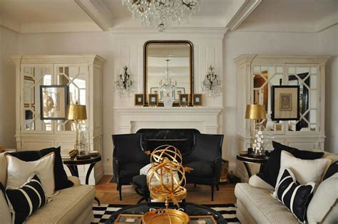 Gold and Black living Room   Eclectic   living room