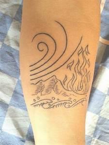 Tatouage 4 éléments : simona 39 s tattoo earth water wind and fire four elements ~ Nature-et-papiers.com Idées de Décoration