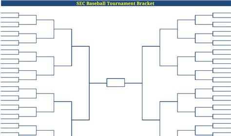 printable blank  sec baseball tournament bracket sec