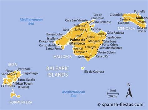 Balearic Islands Map Balearic Islandsspain Island