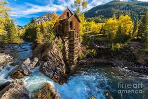 Autumn In Crystal Mill Colorado Landscape Photograph by
