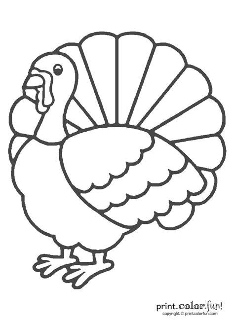thanksgiving turkey coloring print color fun
