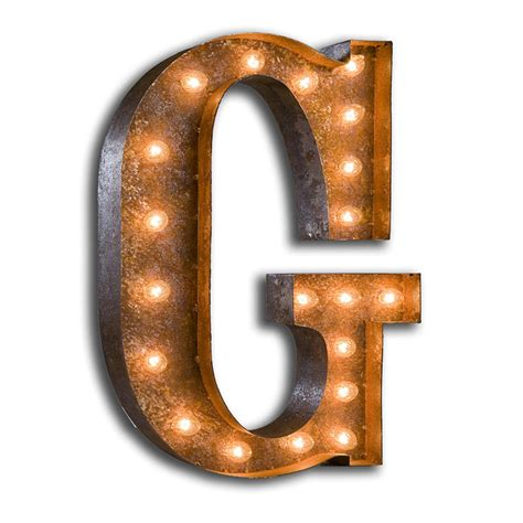 district17 24 inch letter g marquee light wall
