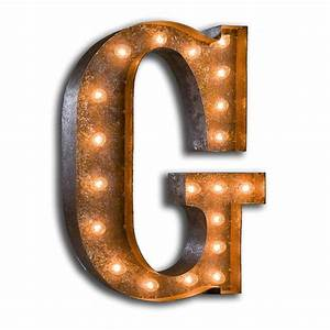 Rusty 24 inch letter g marquee light by vintage marquee lights for G marquee letter