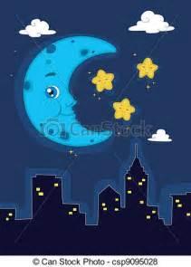 Peaceful Night Scenes Clip Art Free