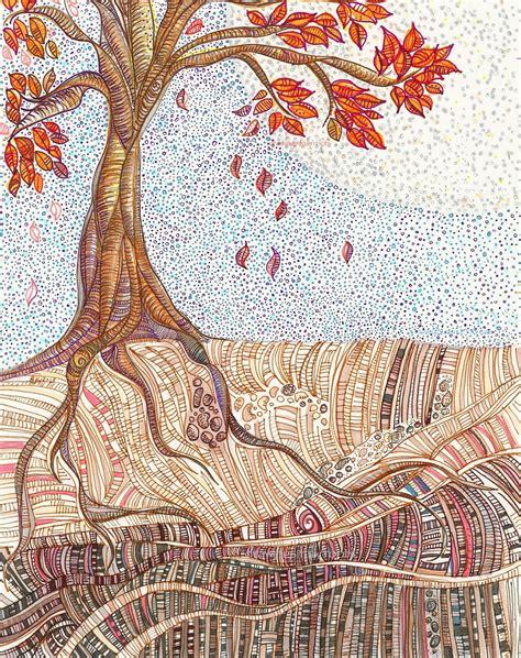 allies painting journal tree drawings dirt doodles