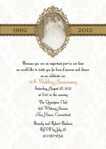 Damask 50th or 25th anniversary wedding invitation DIY print yourself - picture frame w/ RSVP card