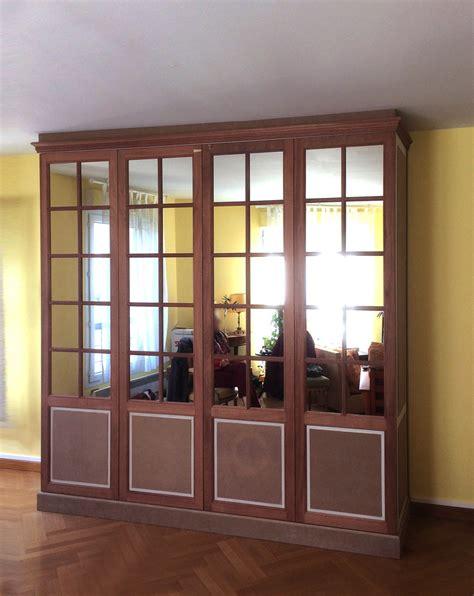 armoire de sejour avec portes miroirs menuiserie desnoyer