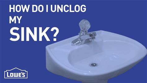 ways to unclog a sink how do i unclog my sink diy basics youtube