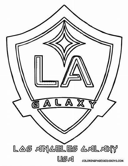 Coloring Soccer Pages Logos Galaxy Sheets Team