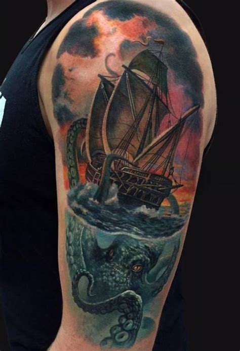 Ship Tattoo by The Gallery For Gt Old Sailing Ship Tattoos