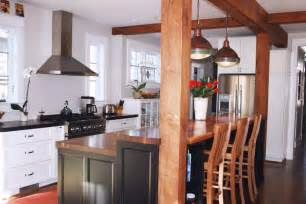 kitchen island with raised bar kitchen island bar ideas with grothouse wood surfaces