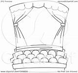 Coloring Theater Outline Cinema Clip Theatre Stage Studio Illustration Royalty Clipart Bnp Rf Template Drawings 07kb 1024px 1080 sketch template