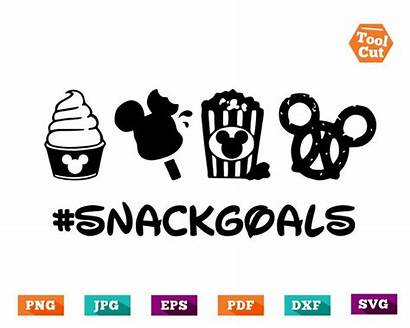 Svg Disney Snack Goals Mickey Disneyland Cricut