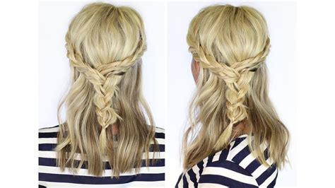 beautiful braid  medium length hair youtube