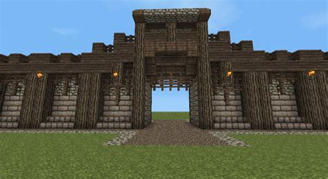 Detailed Medieval Wall + Entrance! Now With Added Guard