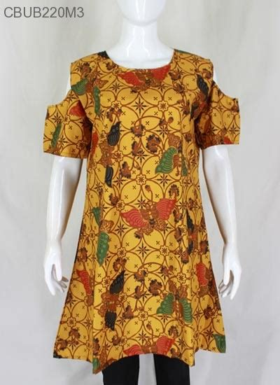 dress damayanti motif klasik blus lengan pendek murah