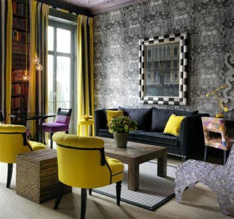 chaises jaunes stunning deco salon fauteuil noir ideas design trends
