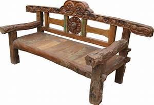 Holzbank Massiv Stamm : rustikale gartenbank 112 240 85 cm ebay ~ Watch28wear.com Haus und Dekorationen