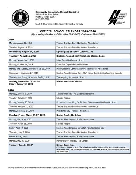 clark county school district calendar calendar template design