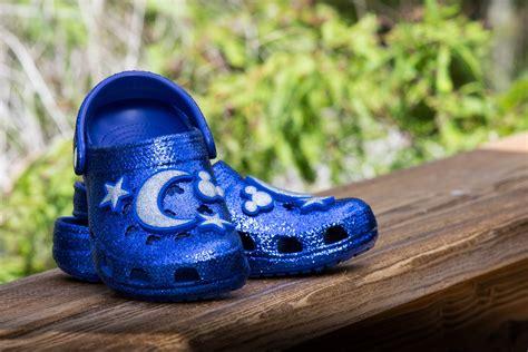 buy sparkly blue crocs    disney collection
