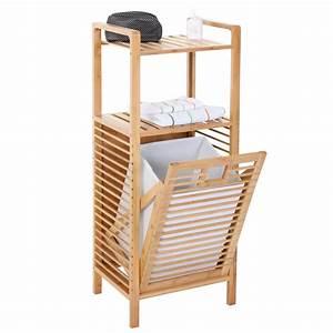Badregal Mit Wäschekorb : badezimmer set narita badschrank standregal w schekorb bambus ebay ~ Whattoseeinmadrid.com Haus und Dekorationen