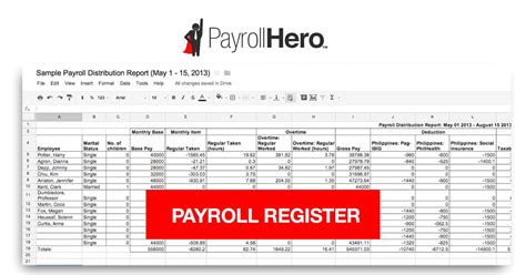 export  philippine payroll register  payrollhero