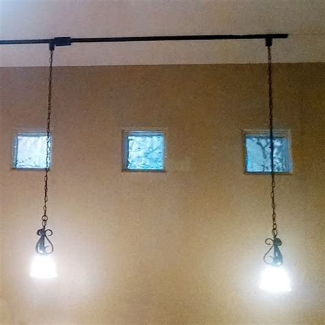 track lighting architectural black linear pendant cord