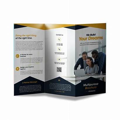 Brochures Trifold Custom Fold Tri Printed Brochure