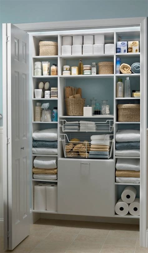 closet bathroom 1000 ideas about small linen closets on linen