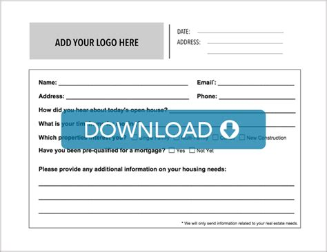 broker open house feedback form real estate open house sign in sheet free template download