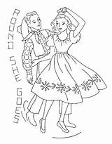 Square Dance Embroidery Coloring Patterns Pages Yee Flickr Dancing Haw Colouring Via Chicken Cross Printables Collect Wawawiwa Goes Round She sketch template