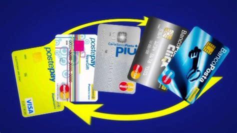 carta banco posta click carta di credito poste italiane tutti i tipi di carta