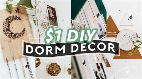 diy dorm room decor  super easy aesthetic