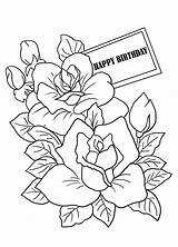 Coloring Birthday Pages Drawing Mothers Cards Flowers Sheet Colouring Sheets Flower Printable Mother Happy Drawings Card Clipartqueen Adults Colorful Wishes sketch template