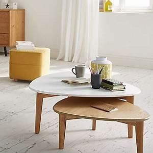 Table De Salon Alinea : table basse triangulaire jaune avec pieds en ch ne h43cm ~ Dailycaller-alerts.com Idées de Décoration