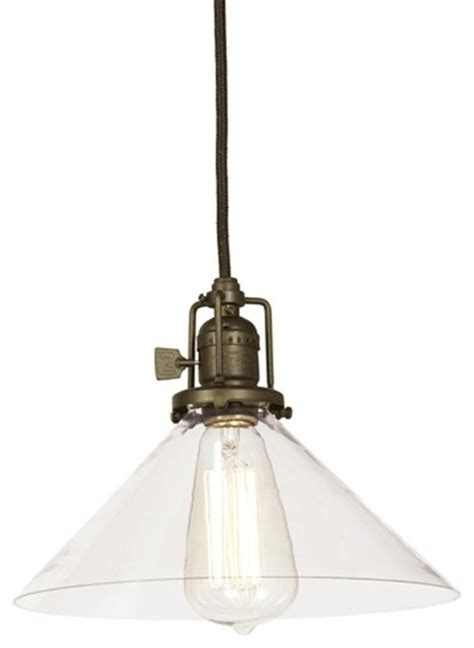 clear glass cone industrial pendant pendant lighting