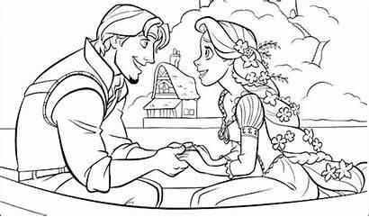 Coloring Tangled Printable Rapunzel Flynn Disney Colouring